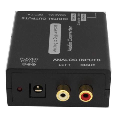 ANALOG TO DIGITAL POWERED AUDIO CONVERTER