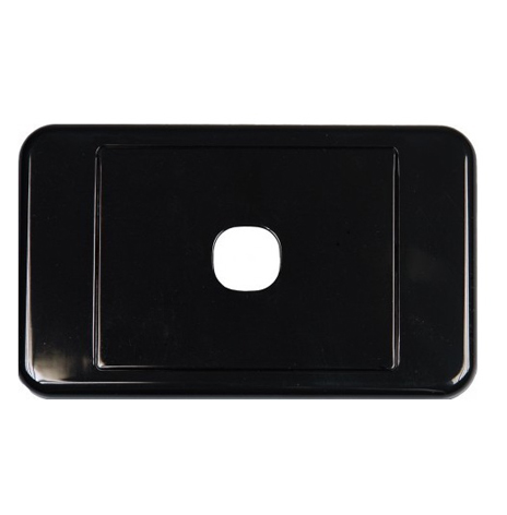 CLIPSAL BLACK  1 WAY INSERT WALL PLATE