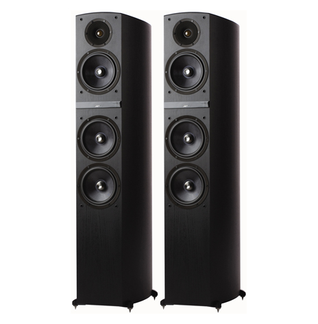 JAMO C809 BLACK TOWER SPEAKERS 1