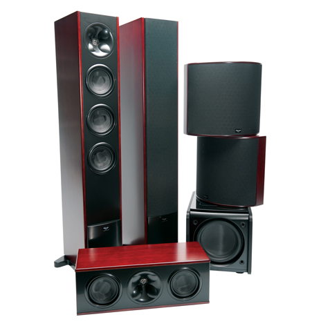 KLIPSCH 5.1 SURROUND SOUND PACK CHERRY